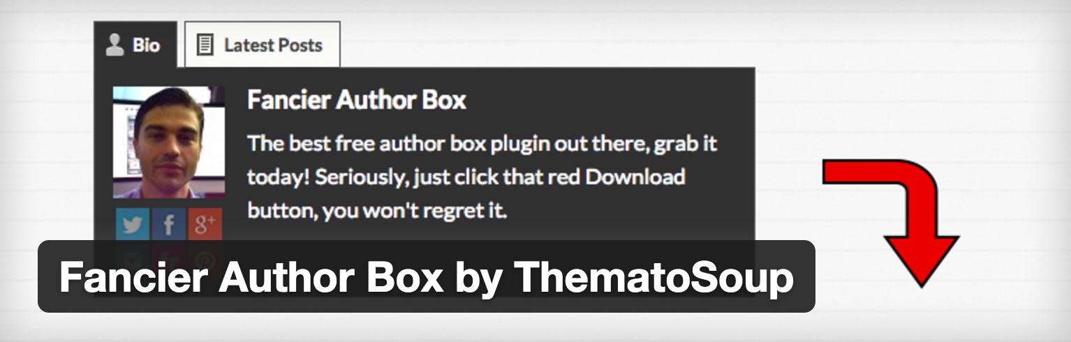 記事上にプロフィールを表示できるFancier Author Box設定方法