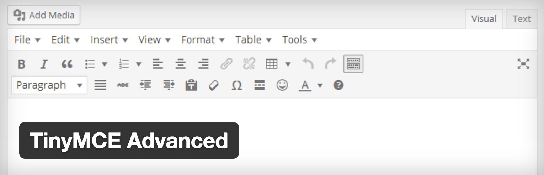 TinyMCE Advanced プラグインの効果と使い方