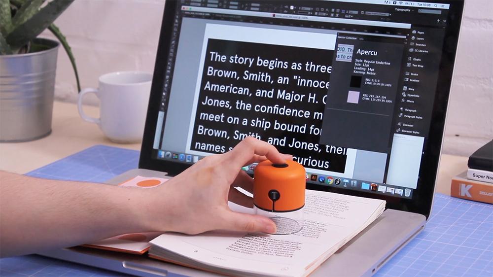 スタンプを押す感覚でフォントや色を読み取れるガジェット